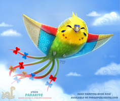 Daily Paint 1820# Parakite by Cryptid-Creations