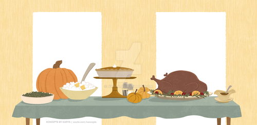 Thanksgiving Feast Binder Art by Nyrak