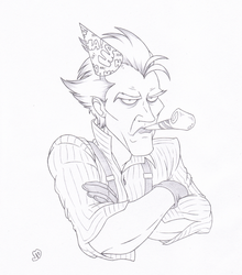 Clown with a Frown by Joey-Darkmeat