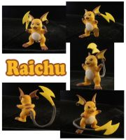 Raichu Sculpture: Collage