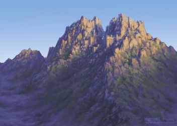 Mountain Fortress by Irbeus