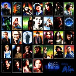 Once Upon a Time sketch cards by AstroVisionary