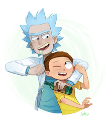 Stick with me, Morty by Skeleion