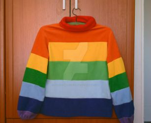 Mabel's rainbow sweater by famous-and-fabulous