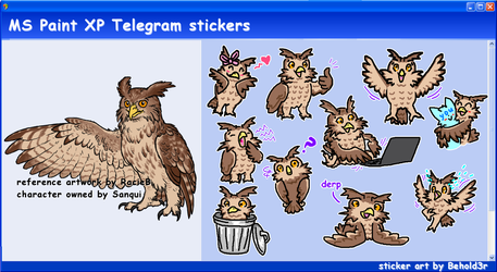 MS Paint Telegram stickers by Beholderr