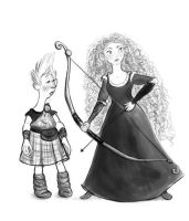 Merida and Wee Dingwall by Stitchkitti