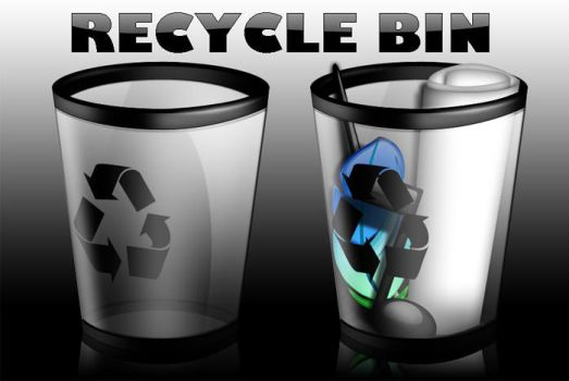recycle bin dock icons by darkdawg