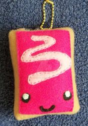 Small Toaster Pastry Keychain by CatWoman4ever