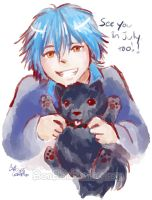 Aoba can't wait to see you, either!! by Bon-Bon-Bunny