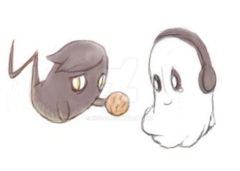 LG and Blooky by kinpaz