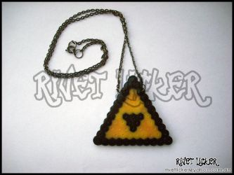 8-Bit Triforce Necklace by angeleyezxtc