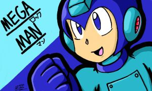 Colors! 3D Drawing - Mega Man Is Ready To Rock by AnotherRandomMegaMan