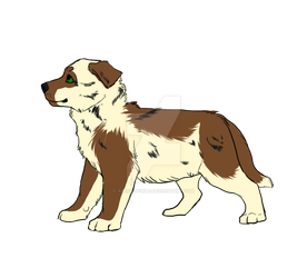 Piebald pup adopt by Asenagowild