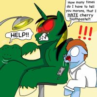 I HATE CHERRY TOOTHPASTE! by Theequestrianwarrior