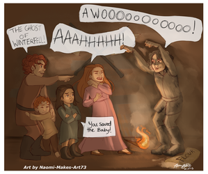 The Crypts Beneath Winterfell by naomimakesart