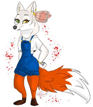 Me in furry character by VadhenziArt
