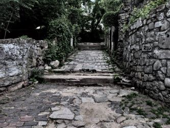 Some sort of old stone path with walls by Durza099696