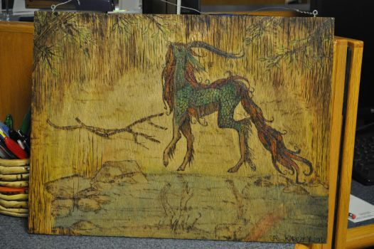 Qilin WoodBurning by CAEloquent