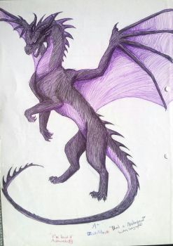 Maleficent Inspired Dragon by ellenrose98
