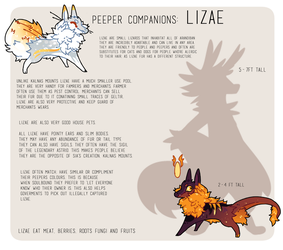 Lizae Species Reference by Ne-wt