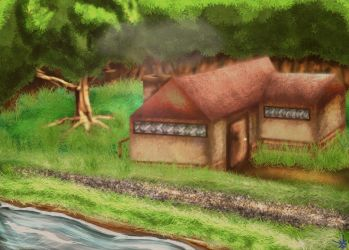 House in the Woods by AkatsukiMemberWoolfy