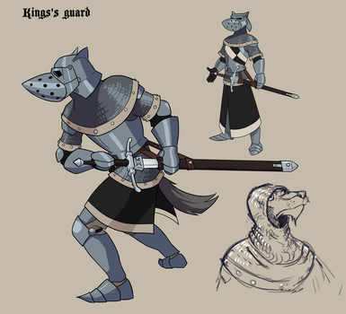 King's Guard concept by Glumych