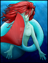 Shy Mermaid by kachi