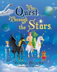 The Quest Through the Stars- Book Cover Design by storybookillustrator