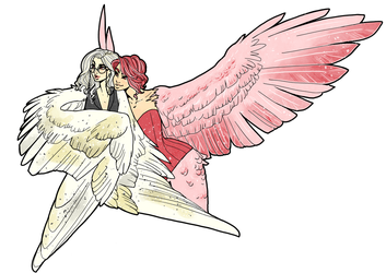 Commission - Amon and Lilith by inkscribble