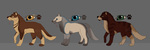 Wolf Adopts (2/3 OPEN) by Dragongirl1993