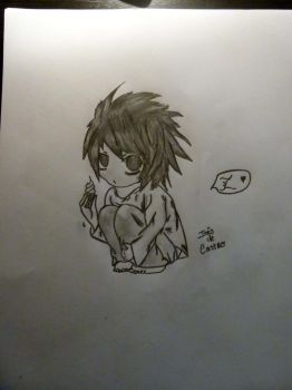 L From Death Note (Chibi) by inesdecastro