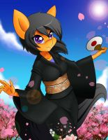 Kawaii kimono (commission by AskQuickBullet) by chacrawarrior