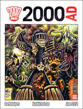 Dark Judges - 2000AD Sketch Cover by KatCardy