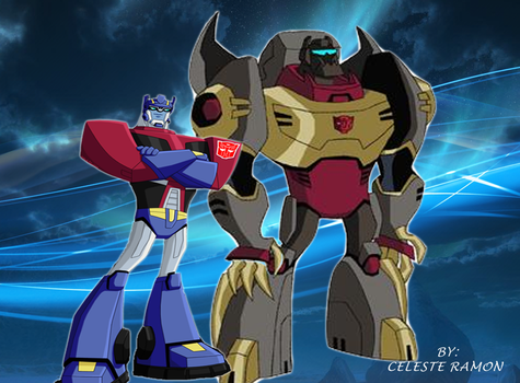 Optimus Prime and Grimlock: TFA by celtakerthebest