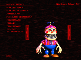 FnaF4 - Nightmare Balloon Boy by Kana-The-Drifter