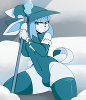 Glaceon by stickybile