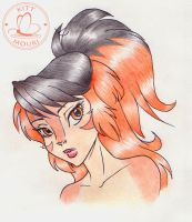 WilyKit in Color Pencil by KittMouri