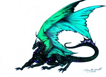 Green Dragon by CryoftheBeast