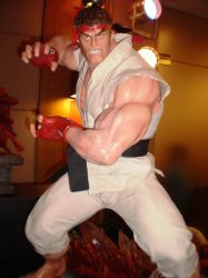 Ryu statue by force2reckon