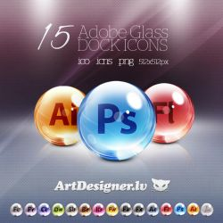 Adobe cs 5 dock icons by lazymau