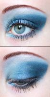Blue eyeshadow by Creativemakeup