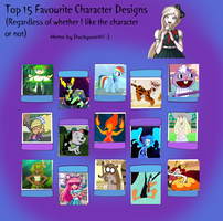 Top 15 Favourite Character Designs by cmara