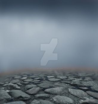 Rock And Fog Background - Stock by kendra19082002