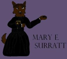 Mary Surratt colored by Dragon-of-DC