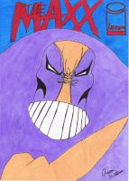 Drawing of THE MAXX from Image Comics by MIZTER-ROOTBEER