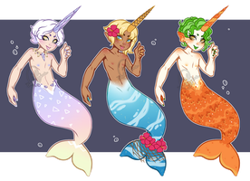 MerMAY 02 - Merwhals (REDUCED: CLOSED) by cindyjeans-designs