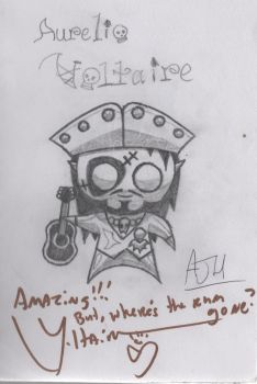 Chibi Voltaire, signed by Voltaire by ajhockham