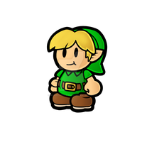 Paper Mario Young Link by Decapitated-Kittens