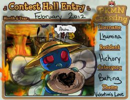 PKMN Crossing: Contest Hall Entry (Feb2012) by Lhumina
