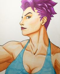 Zarya from overwatch by amonkeyonacid